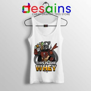 This is The Whey Protein Tank Top Fitness Mandalorian Tops S-3XL