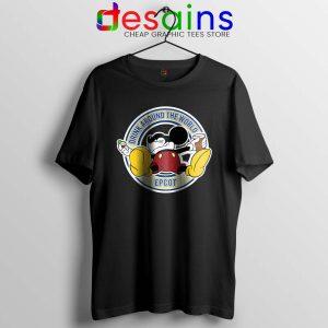 Drunk Mickey Around The World Tshirt Walt Disney Tee Shirts S-3XL