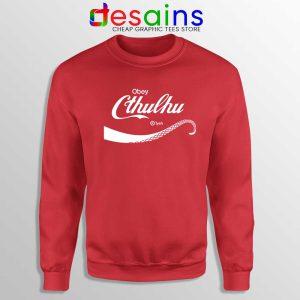 Obey Cthulhu Monster Sweatshirt Coca-Cola Logo Sweaters S-3XL