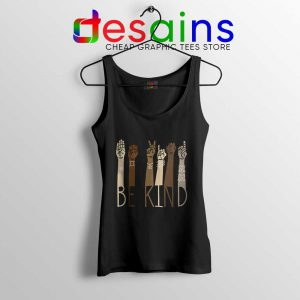 Be Kind Sign Language Arms Tank Top Black Lives Matter Tops S-3XL