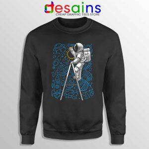 SpaceX Doodle Sweatshirt Astronaut NASA Art Sweaters S-3XL