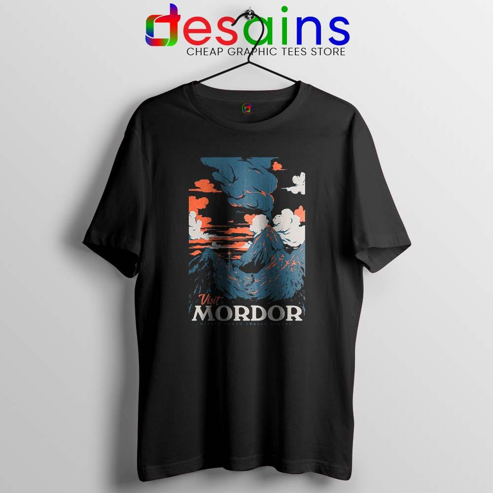 Visit Mordor Base Of The Arch-Villain Sauron Black T-Shirt S-6XL