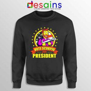 Vote Scorpio for President Sweatshirt Hank Scorpio Simpsons Sweaters S-3XL