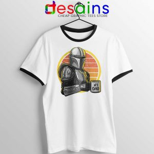Galaxys Best Dad Ringer Tee Funny The Mandalorian Unisex Ringer Tees