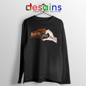 Heart Hands Long Sleeve Tshirt Black Lives Matters Tees S-2XL