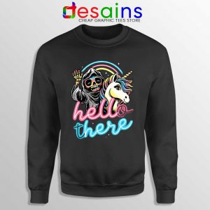 Hello There Unicorn Sweatshirt Halloween Skeleton Sweaters S-3XL
