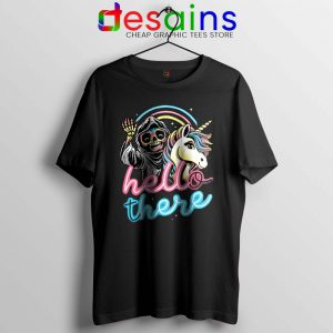 Hello There Unicorn Tshirt Halloween Skeleton Tee Shirts S-3XL