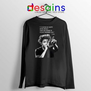 J Cole Quotes Being Myself Long Sleeve Tshirt American Rapper Merch Long Sleeve