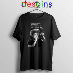 J Cole Quotes Being Myself Tshirt American Rapper Tee Shirts S-3XL