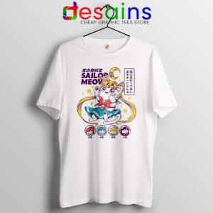 Sailor Moon Meow Tshirt Funny Sailor Cat Tee Shirts S-3XL