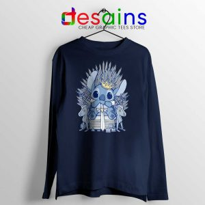 Stitch In Side Thrones Long Sleeve Tshirt Game of Thrones Funny Tees