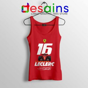 Charles Leclerc Race Car Tank Top F1 Driver Tops S-3XL