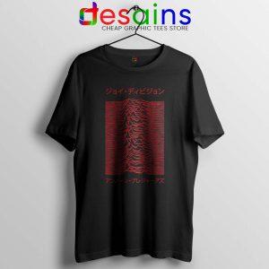 Japanese Joy Division Tshirt Unknown Pleasures Tee Shirts S-3XL