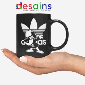 Snoopy Dab Three Stripes Mug Funny Adidas Dog Ceramic Coffee Mugs
