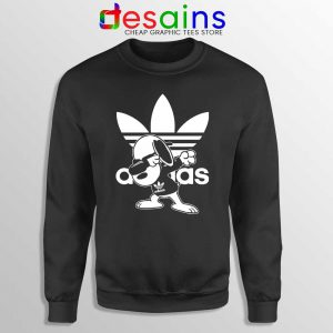Snoopy Dab Three Stripes Sweatshirt Funny Adidas Dog Sweaters