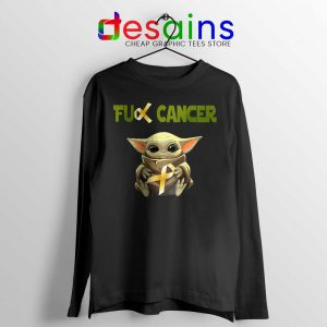 The Child does not like Cancer Long Sleeve Tee Baby Yoda