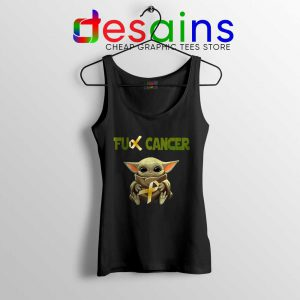 The Child does not like Cancer Tank Top Baby Yoda Tops S-3XL