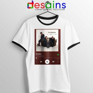Zombie The Cranberries Ringer Tee Rock Band Merch T-shirts