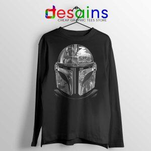 Mandalorian Helmet Long Sleeve Tee Star Wars TV Series