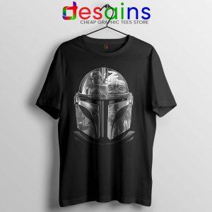 Mandalorian Helmet Tshirt Star Wars TV Series Cheap Tee Shirts