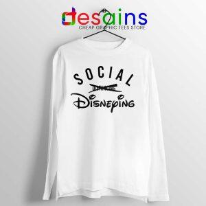 Social Disneying Long Sleeve Tee Covid-19 Distancing Tshirts