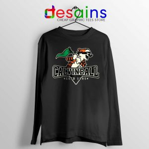 Calvin Ball Long Sleeve Tee Calvin Hobbes Baseball T-shirts
