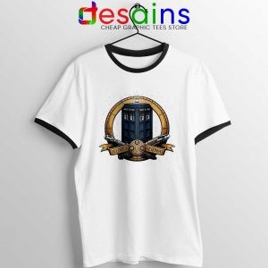 Allons y Geronimo Tardis Ringer Tee Doctor Who T-shirts