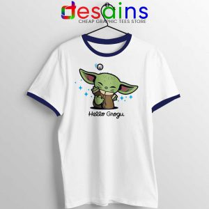 Grogu Baby Yoda Ringer Tee Mandalorian The Child