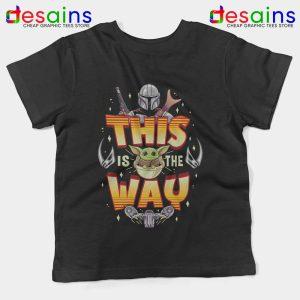 Grogu Mando Kids Tee Mandalorian This is The Way Youth