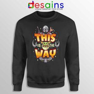Grogu Mando Sweatshirt Mandalorian This is The Way Sweaters