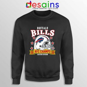 Buffalo Bills White Helmet Sweatshirt AFC East Champs