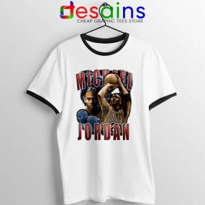 Michael Jordan The Shot Ringer Tee NBA Legend
