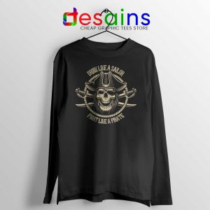 Pirate Skull and Crossbones Long Sleeve Tee
