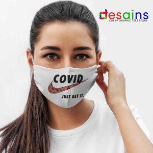 Covid Nike Just Get It Mask Cloth Funny Corona Memes