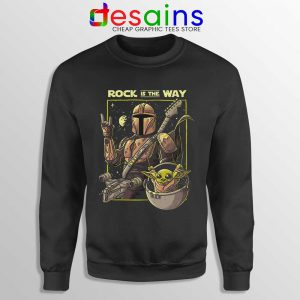 Mandalorian AcDc Rock n Roll Sweatshirt Disney+