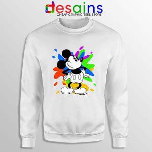 Mickey Mouse On Disney Art Sweatshirt Cartoon