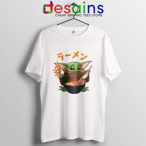 Ramen Baby Yoda Funny T Shirt The Mandalorian Disney+