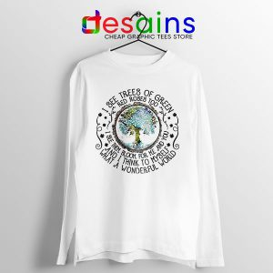 What a Wonderful World Lyrics Long Sleeve Tee Louis Armstrong