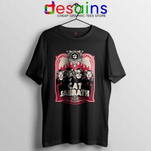 Cat Sabbath Band T Shirt Funny Meow