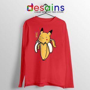 Pikachu Memes Banana Long Sleeve Tee Cute Pokemon
