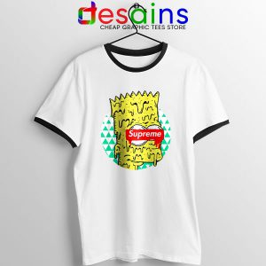 Bart Simpson in Fashion Ringer Tee The Simpsons