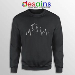 Funny Heartbeat Rick and Morty Sweatshirt Adult Swim