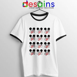 Mickey Mouse Flipping You Off Ringer Tee