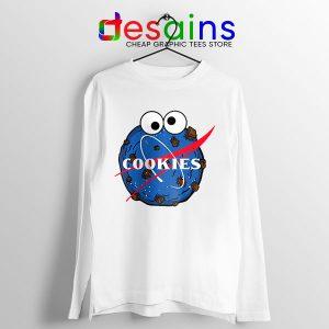 NASA Space Cookies Long Sleeve Tee Funny Old Logo
