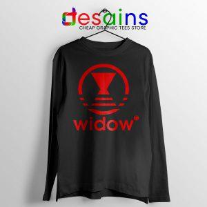 Black Widow Marvel Adidas Long Sleeve Tee Cheap Apparel