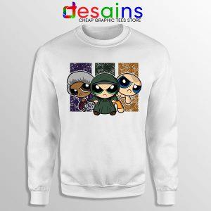 Glass Film Powerpuff Girls Sweatshirt Cartoon Split