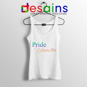 Pride Liberates Rainbow Tank Top LGBT Flag